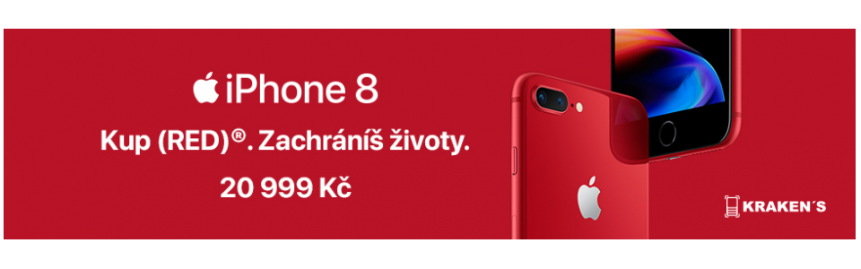 2018 Květen - iPhone 8 Red